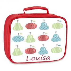 girls personalised lunch bag