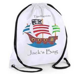 Personalised Pirate Ship Swimming Bag