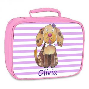 girls pink personalised linch bags