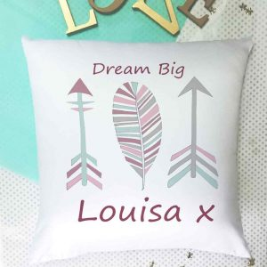 arrows personalised cushion