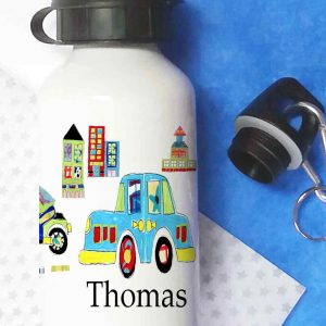 Cars Personalised Water Bottle