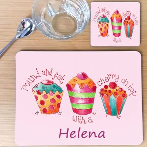 personalised table mat for girl