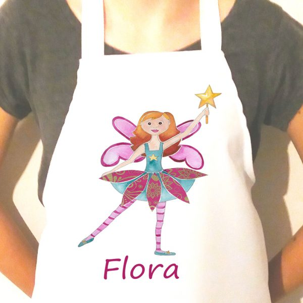personalised fairy apron for children