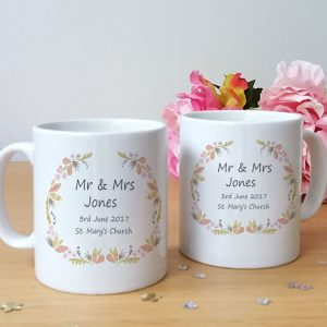 personalised wedding day mug set gift