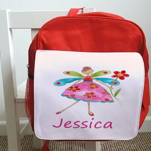 Personalised girls school bag