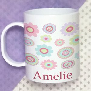 girls personalised cup