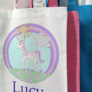 girls personalised bags
