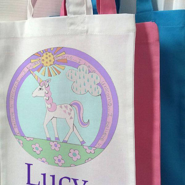 girls personalised bags