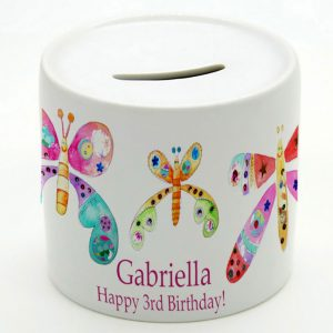 Personalised Butterfly Money Box