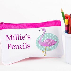 Flamingo Personalised Pencil Case