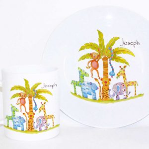 Jungle-Fun-Personaliseed-Plate-and-Cup