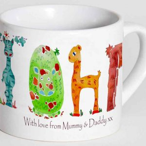 Jungle-letter-Personalised-Cup