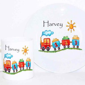 Personalised Plate Cup Train