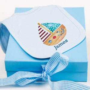 Baby Boy Bib & Keepsake Box