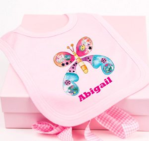 Personalised Bib & Keepsake Box