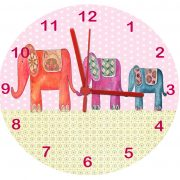 Elephant personalised clock