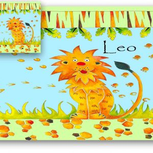 lion-personalised-table-mat