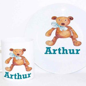 personalised-plate-and-cup-blue-bear