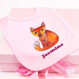 pink-fox-bib