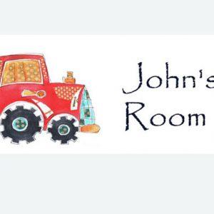 tractor-door-sign
