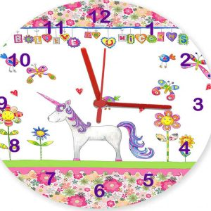 unicorns-clock