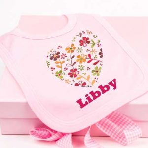 Baby Girl Bib & Keepsake Box