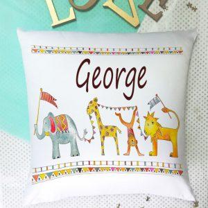 Baby Boy Personalised Cushion
