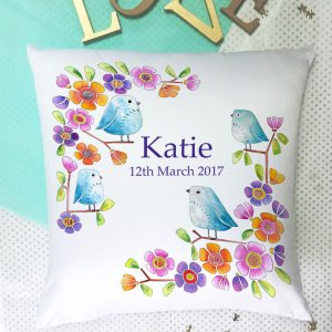 girls personalised cushion