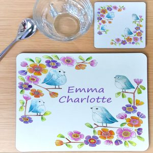 girls personalised placemat