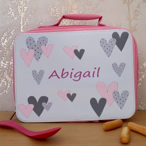 Heart Personalised Insulated Lunch Bag