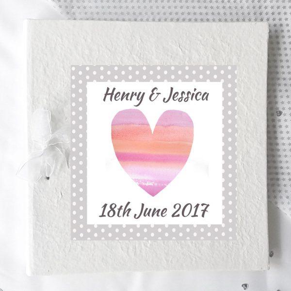 personalised wedding day photo album