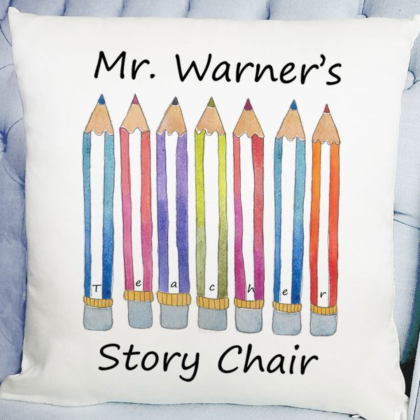 personalised teacher gift, cushion