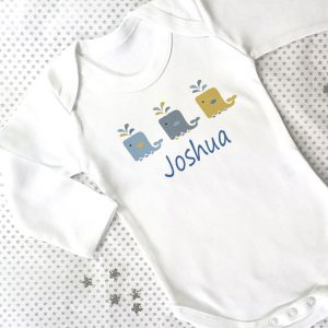 Personalised Boy Baby Grows