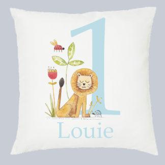 1st birthday Lion Cushion