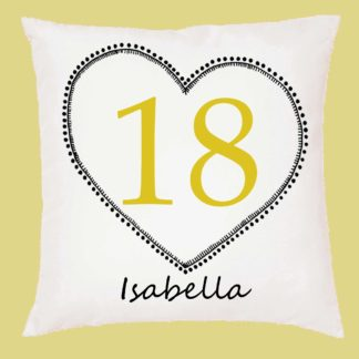 18th birthday cushion