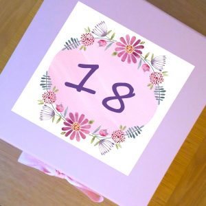 18 birthday keepsake box