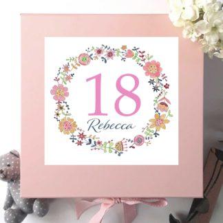 18th personalised keepsake box
