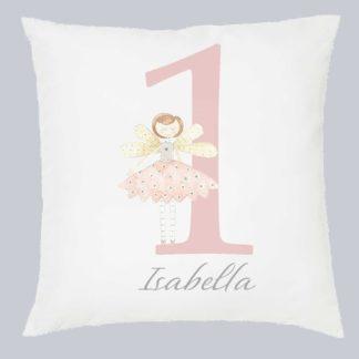 1st birthday cushion fairy