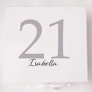 21 Silver Keepsake Box