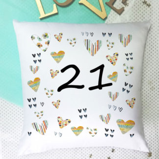 21 birthday cushion