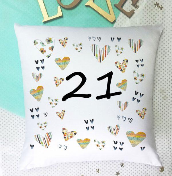 21 birthday cushion