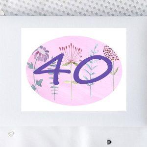 40th birthday record book