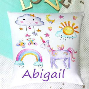 personalised unicorn cushions