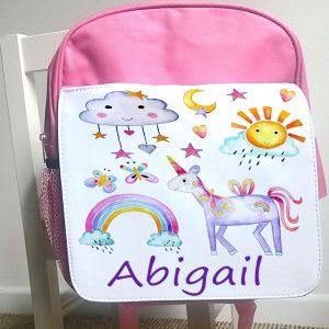 pink school bag
