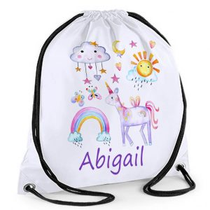 personalised girls swim bag