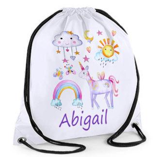 personalised girls swim bag