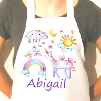 unicorn personalised aprons