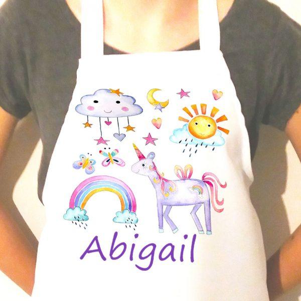unicorn personalised aprons