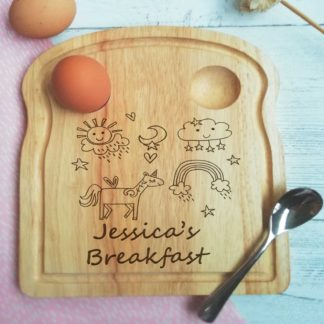 Unicorn Personalised Breakfast Board