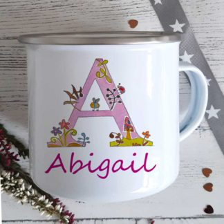 Alphabet Girls Enamel Mug